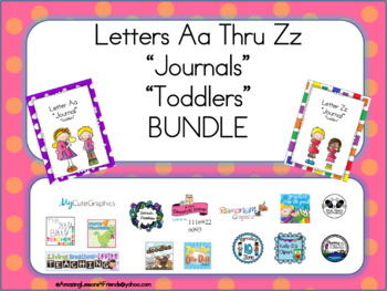 BUNDLE Letters Aa Thru Zz Journals for Toddlers
