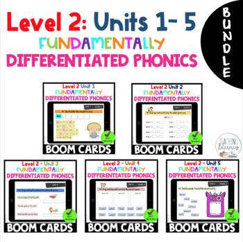 BUNDLE - Level 2 Units 1 - 5 FUNdamentally Differentiated Digital BOOM CARDS