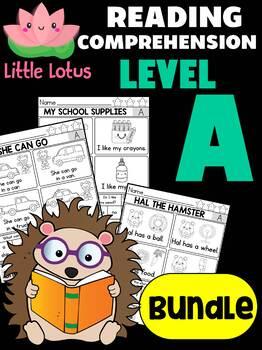 BUNDLE: Level A Reading Comprehension Passages & Questions