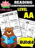BUNDLE: Level AA Reading Comprehension Passages & Questions