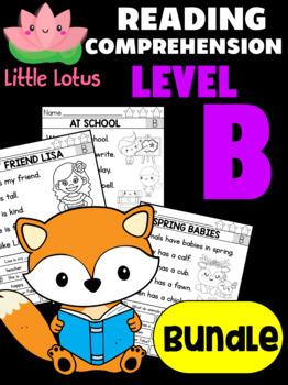 BUNDLE: Level B Reading Comprehension Passages & Questions
