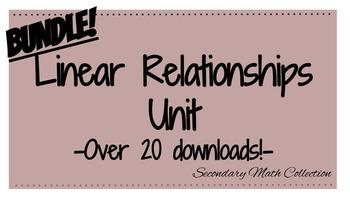 BUNDLE!!! Linear Relationships Unit