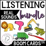 BUNDLE Listening To Sounds BOOM CARDS™ No Print Hearing Lo
