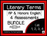 Literary Terms BUNDLE List 1-4 (AP & Honors English)