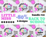 BUNDLE Little Miss 1st grade svg Miss Kindergarten Svg Bac