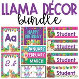 BUNDLE - Llama and Cactus Classroom Theme Decor