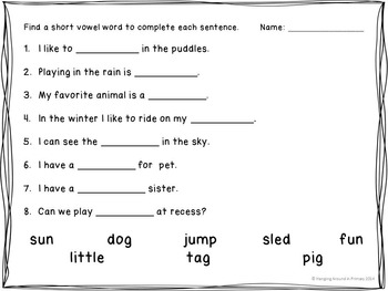 Literacy Centers for Short and Long Vowels - BUNDLE