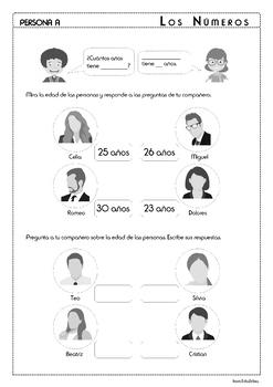 Numbers in Spanish - BUNDLE - Los Números 1-30