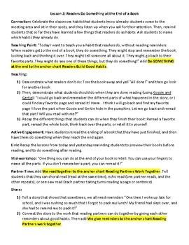 BUNDLE: Lucy Calkins 1st Grade Reading Workshop (5 Units and 5 Read Aloud Plans)