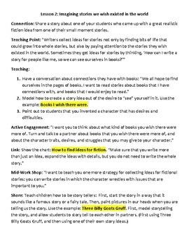 BUNDLE: Lucy Calkins Lesson Plans -4th grade- Writing Workshop - (4 units)