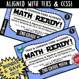 BUNDLE ~ MATH READY 2nd Grade Task Cards - Addition & Subt
