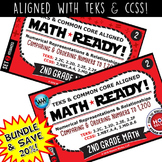 BUNDLE ~ MATH READY 2nd Grade Task Cards: Comparing & Ordering Numbers to 1,200