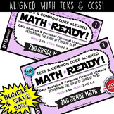 BUNDLE ~ MATH READY 2nd Grade Task Cards: Determining Value of Coins up to $1