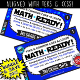 BUNDLE~ MATH READY 3rd Grade Task Cards: Add & Subtract 1-