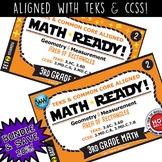 BUNDLE ~ MATH READY 3rd Grade Task Cards – Area of Rectangles {TEKS-aligned}
