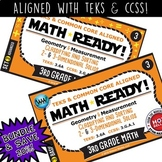 3.6A BUNDLE ~ MATH READY 3rd Grade Task Cards – Classify & Sort 2D & 3D Solids