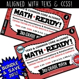3.3H BUNDLE 3rd Grade MATH READY Task Cards – Comparing Fractions