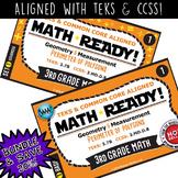 37B BUNDLE  3rd Grade MATH READY Task Cards – Perimeter of Polygons TEKS-aligned