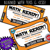 BUNDLE ~ MATH READY 3rd Grade Task Cards – Perimeter of Polygons