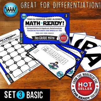 BUNDLE ~ MATH READY 3rd Grade Task Cards – Representing Relationships in a Table