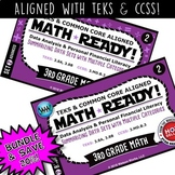 3.8A 3.8B BUNDLE ~  3rd Grade MATH READY Task Cards – Summarizing Data Sets