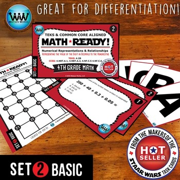 BUNDLE~ MATH READY 4th Grade: Represent Value of Digit in Decimals to Hundredths