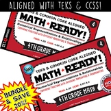 4.3D BUNDLE ~ MATH READY 4th Grade Task Cards – Comparing Fractions