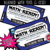BUNDLE ~ MATH READY 4th Grade Task Cards – Multiply & Divide Whole Numbers