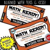 4.5D BUNDLE 4th Grade MATH READY Task Cards – Perimeter & Area of Rectangles