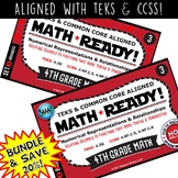 BUNDLE ~ MATH READY 4th Grade Task Cards – Relating Decimals to Fractions