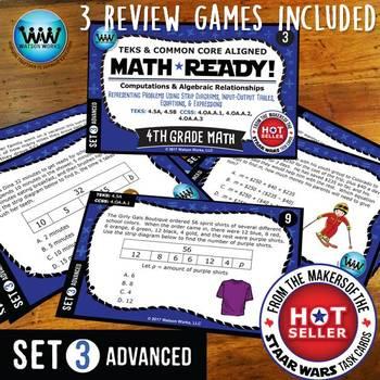 BUNDLE ~ MATH READY 4th Grade Task Cards – Representing Multi-Step Problems