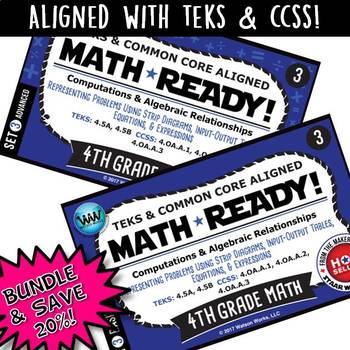 BUNDLE ~ MATH READY 4th Grade Task Cards – Representing Mu