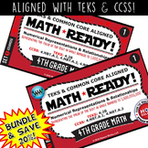 BUNDLE~MATH READY 4th Grade Task Cards: Representing Value of Digit to 1 Billion