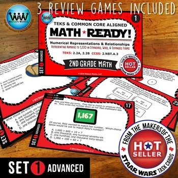 BUNDLE ~ MATH READY Task Cards: Represent Numbers to 1,200 in Various Forms