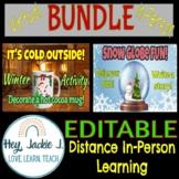 BUNDLE Make a Snow Globe & Hot Cocoa Mug! Holiday Activities - Virtual or Hybrid