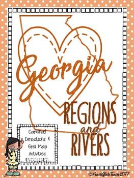 BUNDLE Map Skills with Georgia Regions & Rivers