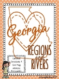 BUNDLE Map Skills with Georgia Regions & Rivers