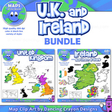 Maps of United Kingdom and Ireland (BUNDLE): Clip Art Maps