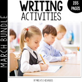 Writing Activities and Centers: March Bundle