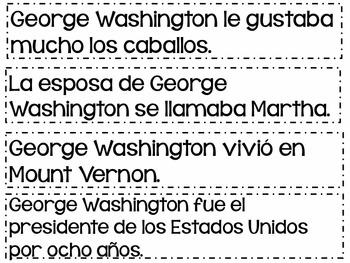 BUNDLE- Matching Sentences in SPANISH