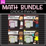 Choice Menus Bundle for Second Grade Math