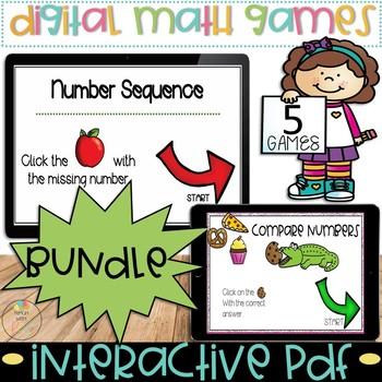 Digital Math Task Cards BUNDLE