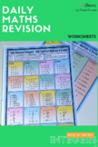 BUNDLE Math INTEGERS Revision Worksheets -FULL SET Add|Subtract|Multiply etc