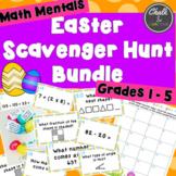BUNDLE - Math Mentals Easter Scavenger Hunt Grades 1-5
