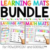 BUNDLE Math and ELA Mats | Print and Digital | Distance Learning