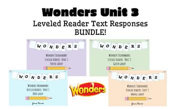 BUNDLE! McGraw-Hill Wonders Leveled Readers DIGITAL Text Responses-UNIT3-GRADE 5