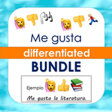 Spanish Me gusta Worksheets (Pasatiempos, Asignaturas, Deportes) BUNDLE
