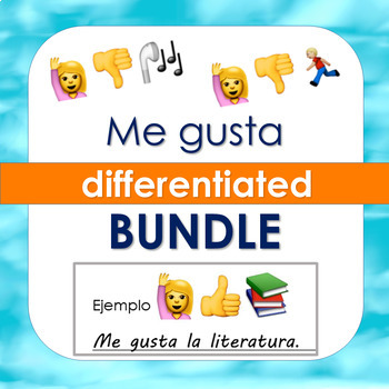 Spanish Me Gusta Worksheets Pasatiempos Asignaturas Deportes Bundle