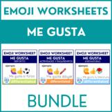 Spanish Me gusta Worksheets (Pasatiempos, Asignaturas, Dep