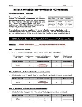BUNDLE - Metric Conversions Guide, Worksheets, and Quizzes